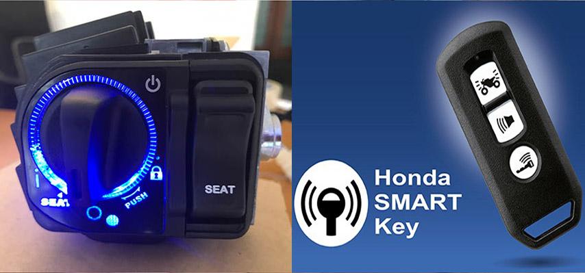 lắp khóa smartkey cho xe sh