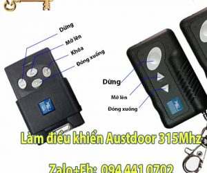 Các nút chức năng  trên thiết bị điều khiển cửa cuốn Austdoor